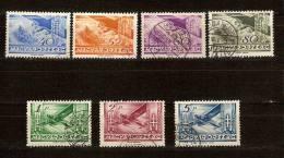 Hongrie Hongarije Ungarn 1936 Yvertn° LP PA 38-44 (°) Used Cote 34,20 Euro - Poste Aérienne
