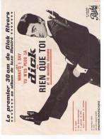 Depliant Publicitaire Sur Le Premier 30 Cm De Dick Rivers - Publicidad