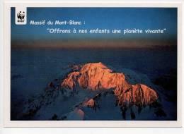 Ref 105   :  CPM Cart'com Massifs Du Mont Blanc WWF Panda - Chamonix-Mont-Blanc