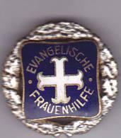 EVANGELISCHE FRAUENHILFE  -  25 JAHRE MITGLIED, VERSILBERT, ODER SILBER  ~~   EMAIL, ENAMEL - Vereinswesen