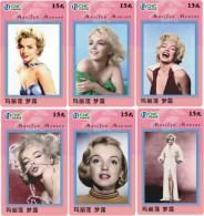 M03782 China Phone Cards Marilyn Monroe 6pcs - Cinéma