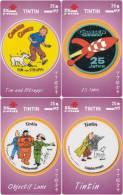 T04281 China Phone Cards Tintin 4pcs - BD