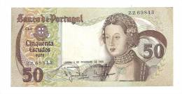 Portugal 50 Escudos 1980 VF++ CRISP Banknote P-174b - Portugal