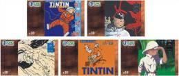 T04186 China Phone Cards Tintin 5pcs - Cómics