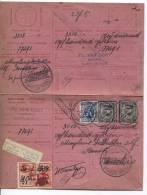 TP 384(2)-285 S/carte Récépissé C.Rupelmonde Du 30.6.1934 D'un Montant De 3515 Frs AP257 - Lettres & Documents