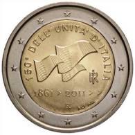 ** 2 EURO COMMEMORATIVE ITALIE 2011 PIECE  NEUVE ** - Italia
