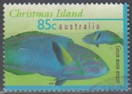 Christmas Island 1997 Michel 429 O Cote (2005) 1.20 Euro Girelle Paon Jaune Cachet Rond - Christmas Island