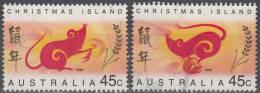 Christmas Island 1996 Michel 415 - 416 O Cote (2005) 1.60 Euro Année Du Rat Cachet Rond - Christmas Island