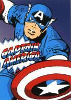 """Entier Postal Des USA Sur Carte Postale Avec Timbre Et Illustration """"Captain America"""" - 2001-10"""