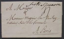Lettre Marque Postale La Ferté Sous Jouarre Seine Et Marne Pour Paris - Postmark Collection (Covers)