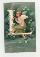 Ange -la Lettre L  (embossed-gaufrée ) - Angels