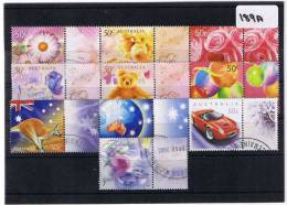 Australia 2003 Greetings 10 Values With Tabs  Fine Used   189A - Used Stamps