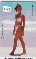 Télécarte Japon EROTIQUE (3757) EROTIC * Japan  EROTIK * BATHCLOTHES * JOLIE FILLE * FEMME * 110-011 * SEXY LADY - Mode