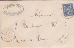 HAUTE MARNE, Lettre 1880, FAVERNEY  /1889 - 1877-1920: Période Semi Moderne