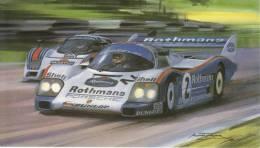 Brands Hatch 1000kms  - 1985  -  Derek Bell  -  Porsche 962C  -   Michael Turner Art Card - Le Mans