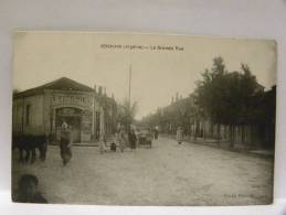 CPA Algérie  -  BOGHARI - La Grande Rue - épicerie Centrale - Autres Villes