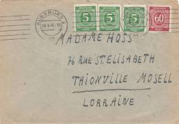 Lettre, 6.04.1946, Allemagne, AUGSBURG 2 /2481 - Bizone