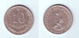 Paraguay 10 Centavos 1900 - Paraguay