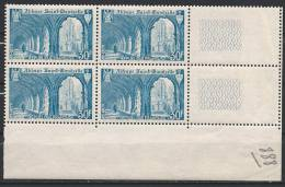France N° 888 ** Neuf  Bloc De 4 - Unused Stamps