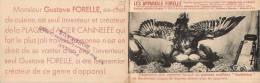PUBLICITE APPAREILS CULINAIRE FORELLE EXPOSITION CUISINE GUSTAVE FORELLE CHEF CUISINIER CANNETON FLANQUE BORDEAUX METIER - Publicités