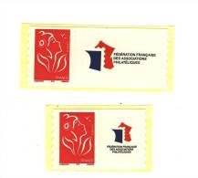 Lamouche TVP Rouge ITVF ROULETTE Personnalisés Petite + Grande Vignette YT 3802A + 3802Aa . Maury 28a + 30a : 40 € - Personalized Stamps