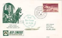 DUBLIN / ZURICH  -  Cover _ Lettera   -  AIR LINGUS - Unclassified