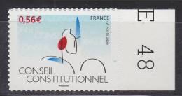 Cinquantenaire Du Conseil Constitutionnel. Logo Neuf Deuxième Tirage N° 337 Autoadhésif - Adhesive Stamps
