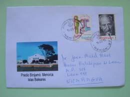 Spain Baleares Islands 2012 Cover To Nicaragua - Water Conservation - 1931-Aujourd'hui: II. République - ....Juan Carlos I
