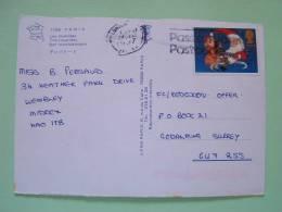 "Great Britain 1997 Postcard ""Paris - Invalides Church"" To England UK - Christmas Moon Children - 1952-.... (Elizabeth II)"