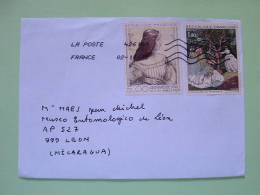 France 2012 Cover To Nicaragua - Paintings Da Vinci Monet Women - Frankrijk