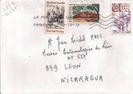France 2012 Cover To Nicaragua - Alain-Fournier Writer - Ussel - Filitosa - Frankrijk