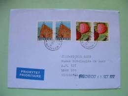 Poland 2012 Cover To Nicaragua - Fruit Framboise Sieradz Church - 1944-.... Republic
