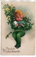CARTE SUISSE BERN1 1933 - JOYEUX NOEL AVEC FLAMME ( ENFANT, LETTRE, SAPIN, BOUGIES ) A VOIR - Autres