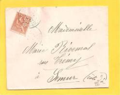 Lettre N° 117 Obl PARIS Rue D' Orleans - Storia Postale