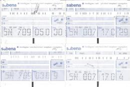 5 Boarding Pass - Sabena - Vols Vers Milan, Oslo, Madrid - Instapkaart
