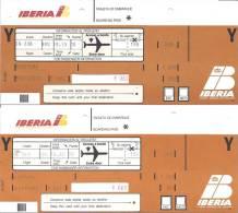 4 Boarding Pass - Iberia - Vols Sabena Et Virgin Express De Madrid Vers Bruxelles - Instapkaart