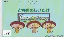 Télécarte Japon * CHAMPIGNON * Telefonkarte (168) MUSHROOM * Japan Phonecard * PADDESTOEL * FUNGO * SETA * PILZ - Alimentation