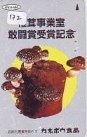 Télécarte Japon * CHAMPIGNON * Telefonkarte (172) MUSHROOM * Japan Phonecard * PADDESTOEL * FUNGO * SETA * PILZ - Alimentation