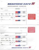 2 Boarding Pass Différents - Braathens Safe (Norvège) - Vols Sabena De Oslo Vers Bruxelles - Cartes D'embarquement