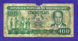 MOZAMBIQUE 1980, Banknote, USED GOOD. 100 Meticais (little Torn And Dirty) Km126 - Mozambique
