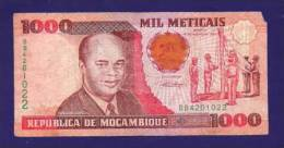 MOZAMBIQUE 1991, Banknote, USED VG.1.000 Meticais   Torn - Mozambique