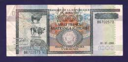 BURUNDI 2000, Banknote, USED VF. 1.000 Francs - Burundi