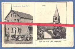 67 - BÜTTEN - Gruss Aus Bütten I Els. - Gasthaus Von Georg Rauch -Kirche - DIEMERINGEN - 1908 - France