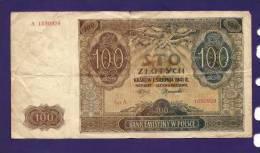 POLAND 1941, Banknotes, USED VG,  100 Zlotych Km103 - Poland