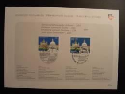 EMISSION COMMUNE JOINT ISSUE USA SCHWEIZ SUISSE SVIZZERA SWITZERLAND GEMEINSCHAFTSAUSGABE - Joint Issues