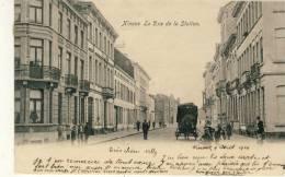 Ninove - Statiestraat -Geanimeerd -1904 ( Verso Zien ) - Ninove