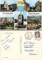 Rosans (Hautes-Alpes), Multivues (cachet Hexagonal Perlé) - France