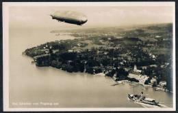 AK Luftschiff Graf Zeppelin, Echtfoto, Bad Schachen (Lindau) Luftbild - Dirigibili