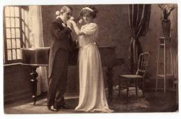 COUPLES A COUPLE AMAG Nr. 0173/4 OLD POSTCARD 1914. - Couples