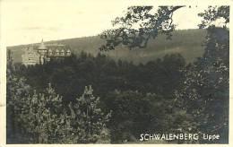 SCHWALENBERG - LIPPE. VEDUTA DEL CASTELLO. CARTOLINA DEL 1950 - Germania